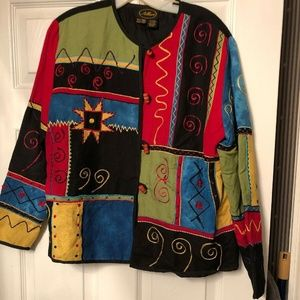 Allure Women's Multi Color Patchwork Jacket